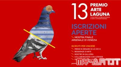 ISCRIZIONI APERTE - 13. PREMIO ARTE LAGUNA